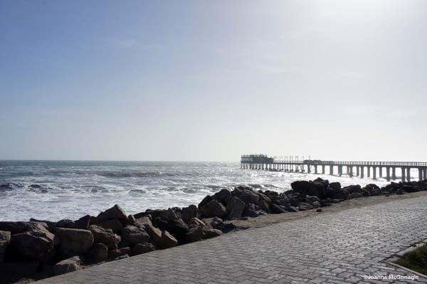 Winter pier in Swapokmund
