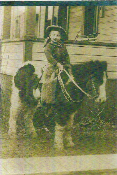 Dad on his pony