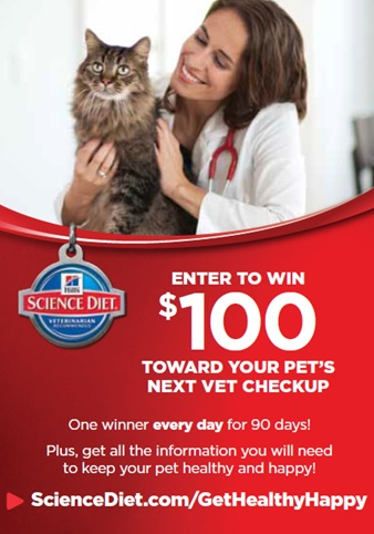 Hill's $100 towards pet's next checkup