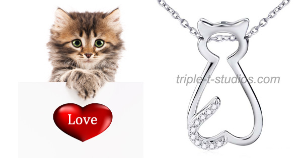 Triple T Studios Classy Cat Necklace