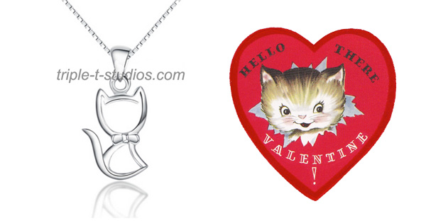 Triple T Studios Silver Cat Necklace