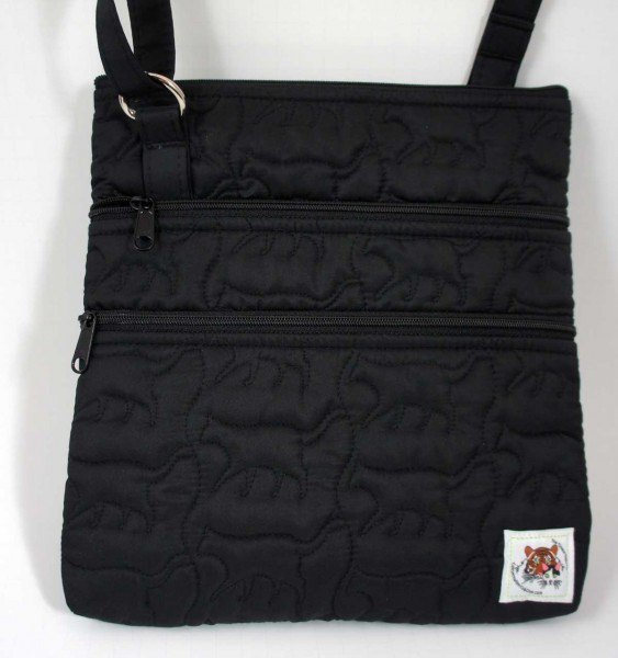 Triple Zip Cross-Body Bag