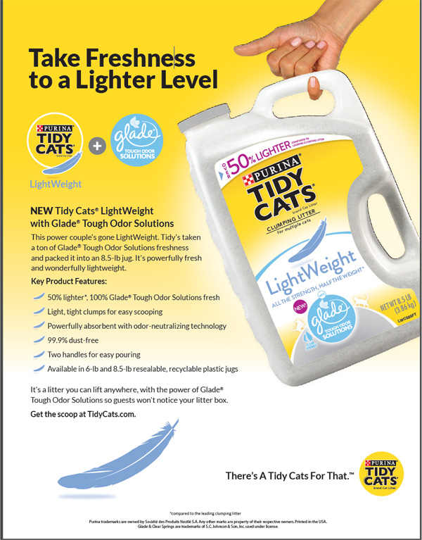 Tidy Cats LightWeight with Glade Tough Odor Solutions Giveaway
