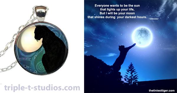 Cats Comfort Us | Cat Moon Necklace Giveaway