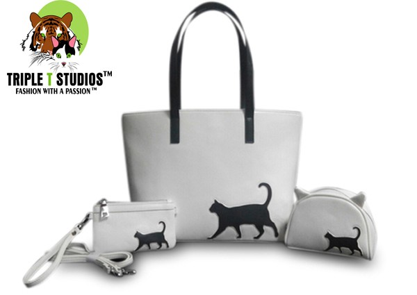 Triple T Studios Cat Walk Tote Trio