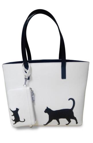 Cat Walk Handbag with smaller bag