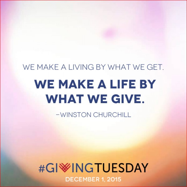 Churchill quote for Giving Thursday