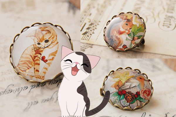 Animal Brooch with Annie