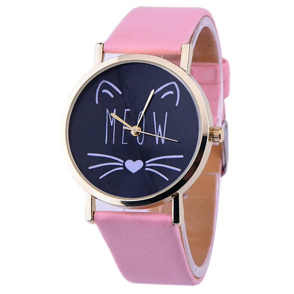 Pink Cat's Meow Watch