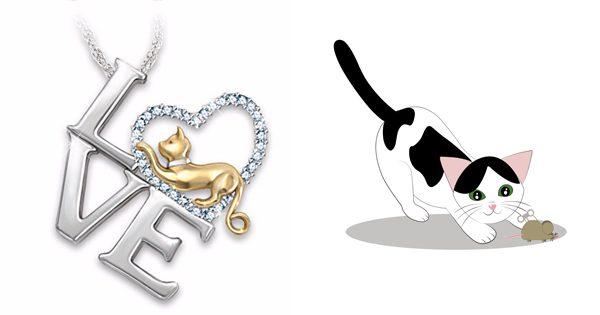 I Love Cats Necklace Triple T Studios
