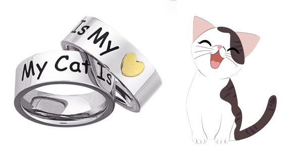My Cat is My Heart Ring
