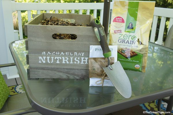Nutrish crate on table