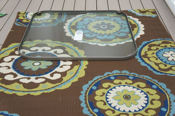 back deck with rug