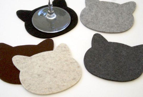 Felt Planet Cat Coasters
