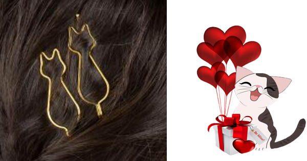 Cat Shaped Hair Pins Triple T Studios
