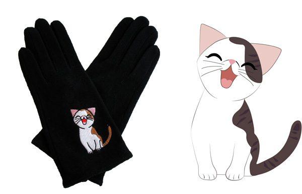 Sweet Annie Black Wool Gloves Triple T Studios