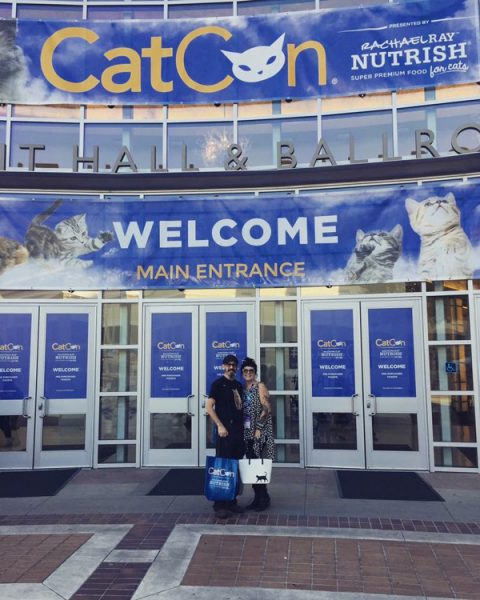 Kate and Mark at CatCon