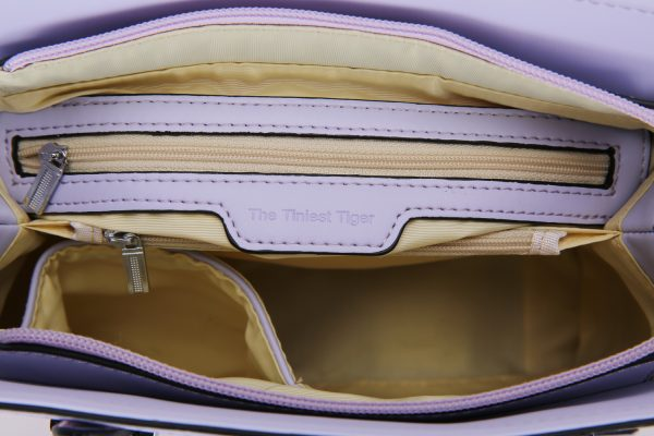 Inside Mini Pretty in Pink Cat Handbag