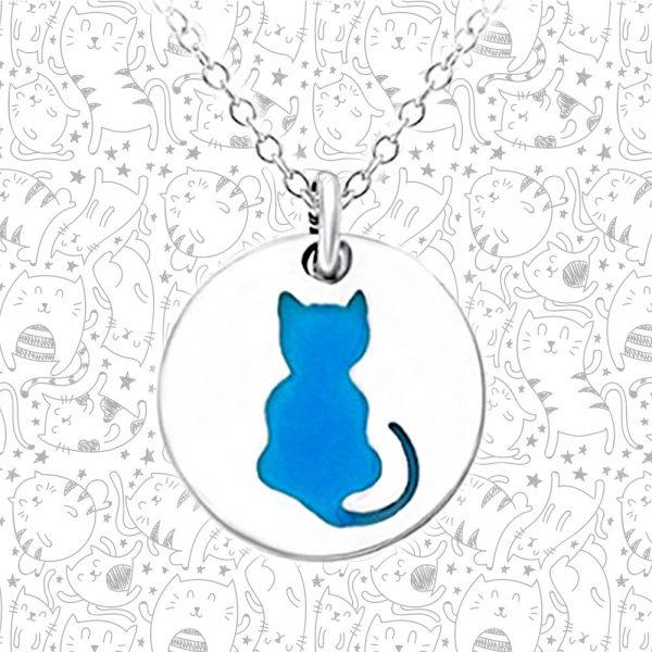 Glow in the Dark Cat Necklace