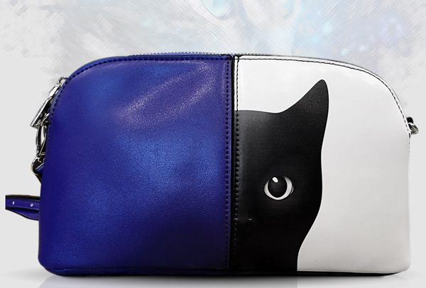 Purple Mercy Black Cat Shoulder Bag