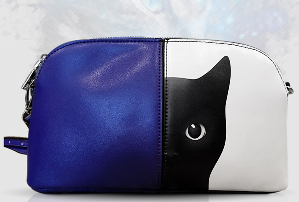 New! Purple Black Cat Mercy Shoulder Bag Giveaway