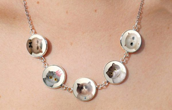Cabochon Cat Necklace