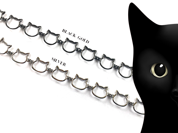 Black Cat Chain Link Necklace Triple T Studios