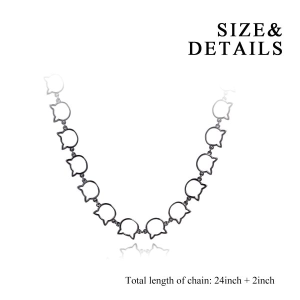 Black Cat Chain Link Necklace