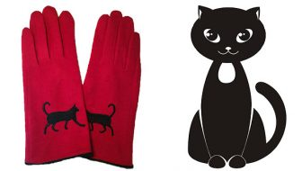 Red Wool Cat Gloves Giveaway