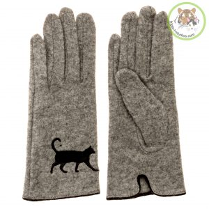 Triple T Studios Gray Wool Cat Gloves