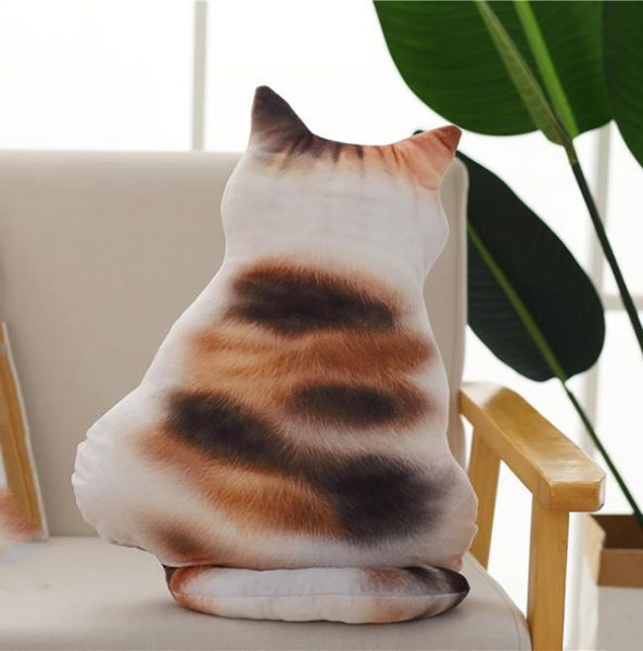 Calico Cat Pillow  Triple T Studios