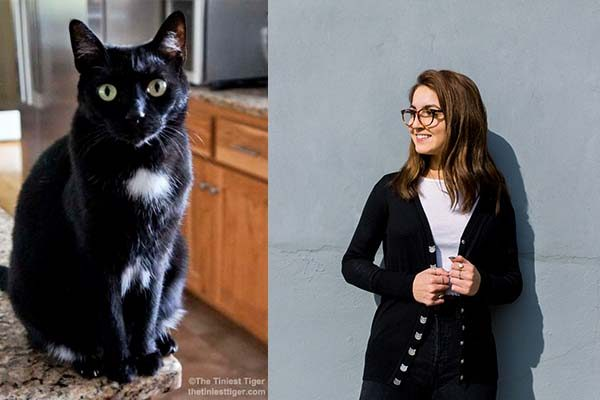 Black Cat Snap Cardigan