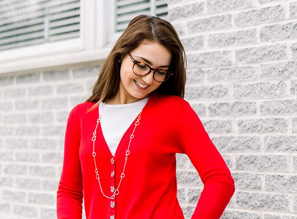 Red Cat Snap Cardigan  Triple T Studios