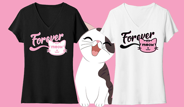 Forever Meow Cat T-Shirt Giveaway