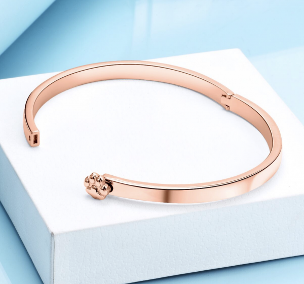 Rose Gold Cat Paw Bangle Triple T Studios