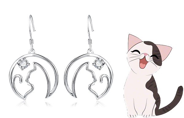 New! Sterling Silver Cat Earrings Giveaway
