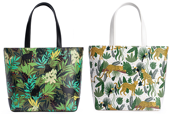Jungle Panther, Wild Cheetah  Wild Cat Totes