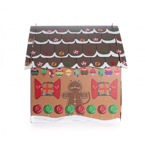 Gingerbread Cat Cardboard House