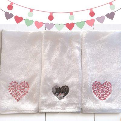 Heart Cat Hand Towels Giveaway